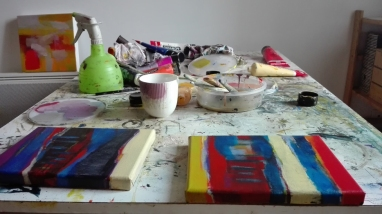 acrylicpainting, acrylique, artstudio, atelierdu 10, la galerie du 10, Odile Touillier, work in progress,acrylic on canvas