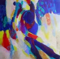 peinture acrylique, acrylique on canvas, modern painting, contemporary painting, abstract painting,spectacle vivant odile touillier peinture