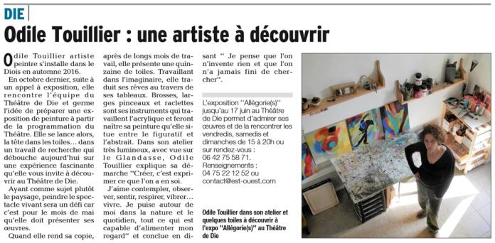 Exposition TDD, article Dauphiné libéré, culture, loisirs