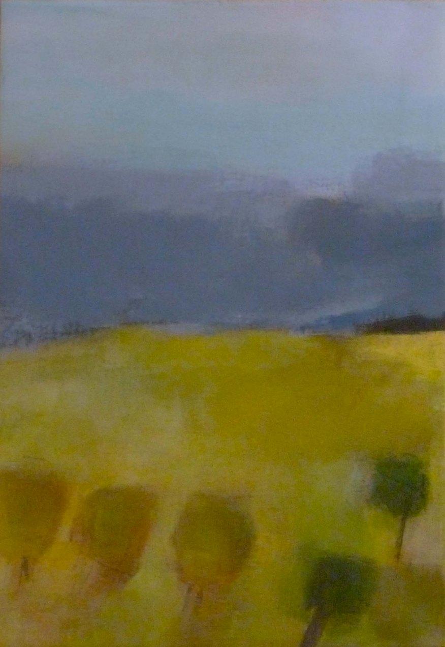 Acrylique sur toile, acrylic on canvas, landscape painting, paysage,odile touillier painting