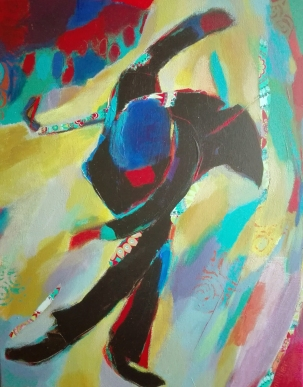 peinture acrylique, acrylique on canvas, modern painting, contemporary painting, abstract painting, spectacle vivant, théâtre de Die, odile touillier peinture