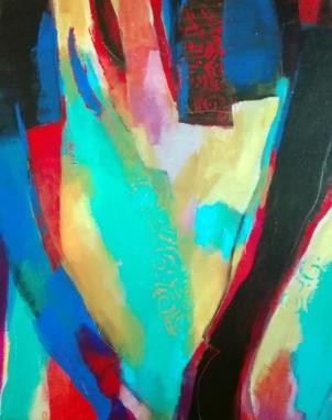 peinture acrylique, acrylique on canvas, modern painting, contemporary painting, abstract painting, spectacle vivant, théâtre de Die, odile touillier peinture