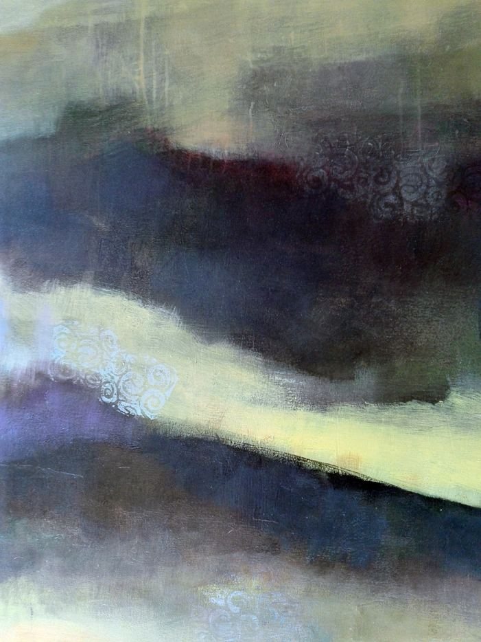 Acrylique sur toile, acrylic on canvas, paysage, odile touillier painting