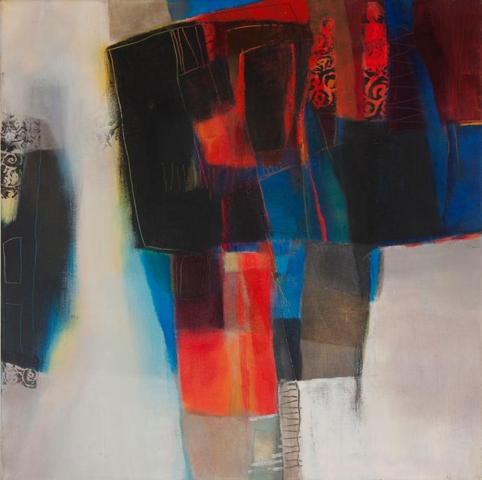 Peinture acrylique, art visuel, anigras, exposition peinture, art actuel, odile touillier peinture, la galerie du 10