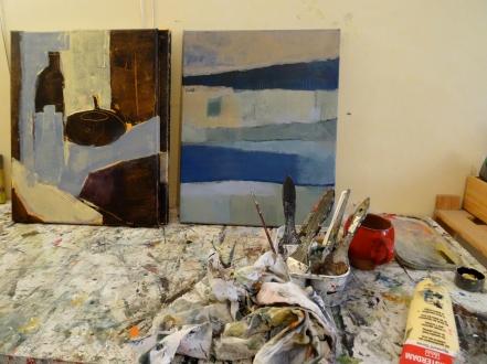 Atelier du 10, La galerie du 10, Odile Touillier, peinture, tasse, motif