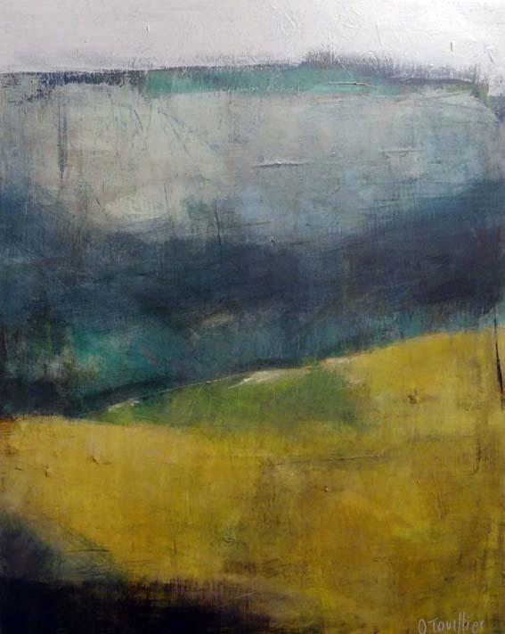 Acrylique sur toile, acrylic on canvas, paysage, landscape painting,, odile touillier painting, galerie du 10