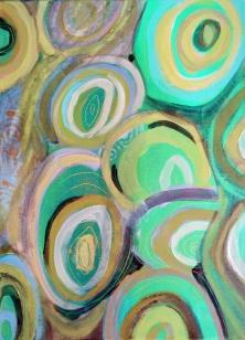 Acrylique sur toile, acrylic on canvas, paysage, landscape painting, odile touillier painting, galerie du 10, résidence artistique