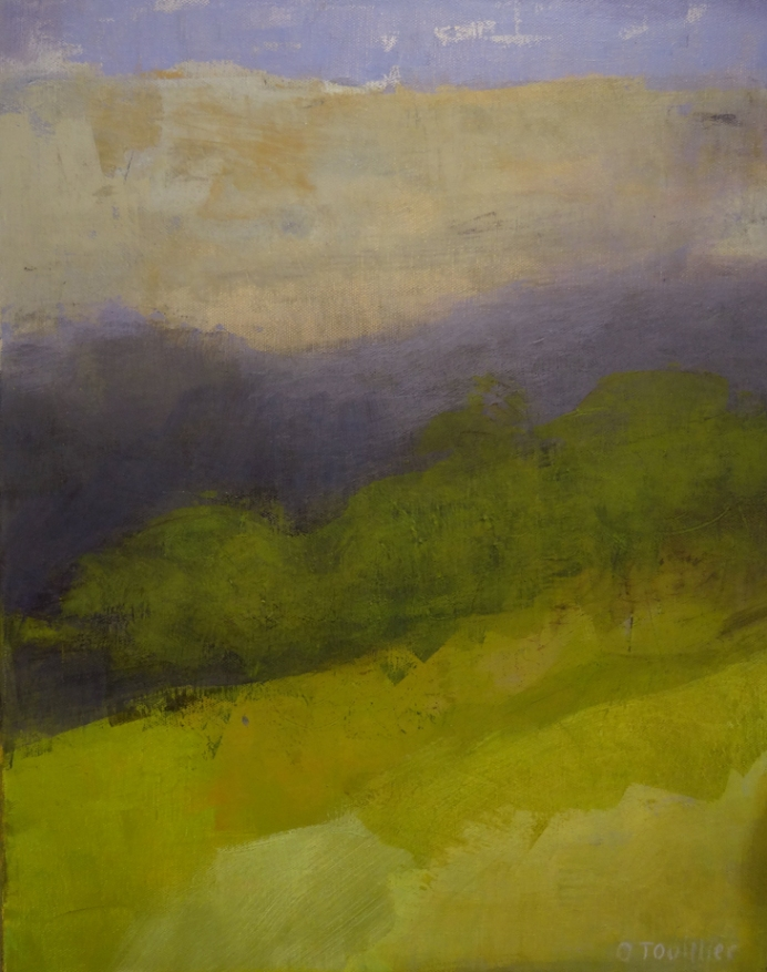Acrylique sur toile, acrylic on canvas, paysage, landscape painting, odile touillier painting, galerie du 10