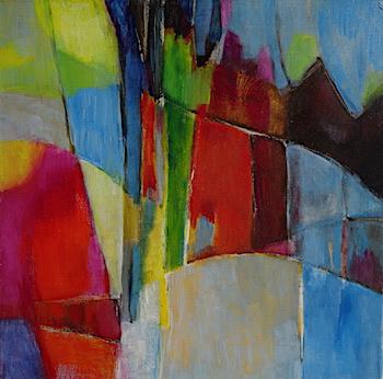 odile touillier, artiste peintre, e.cadeau, artistes contemporains, acrylique sur toile, galerie du dix, la galerie du 10, Die, exposition automne hiver
