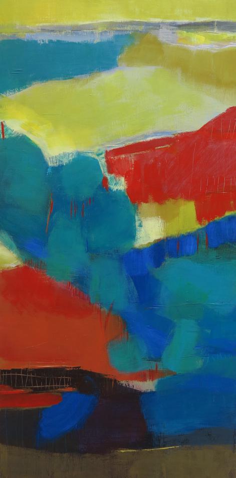 odile touillier, peinture acrylique sur toile, artiste contemporain, touillier, galerie du dix, galerie du 10, paysage, expo automne hiver