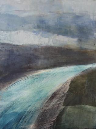 peinture acrylique sur toile, odile touillier, galerie du 10, paysage, e.cadeau, expo automne hiver
